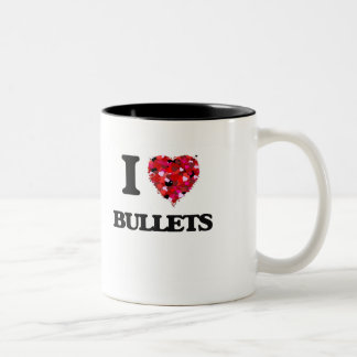 I Love Bullets Two-Tone Coffee Mug
