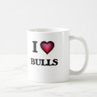 I Love Bulls Coffee Mug