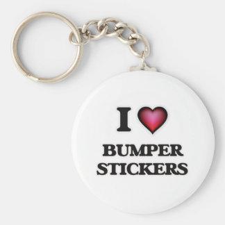 I Love Bumper Stickers Keychain