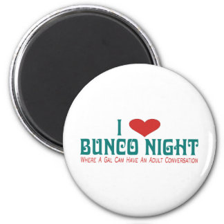 i love bunco night 2 inch round magnet