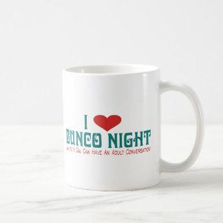 i love bunco night classic white coffee mug
