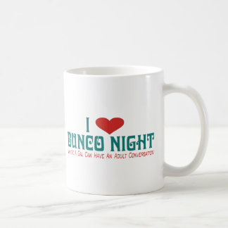 i love bunco night coffee mug