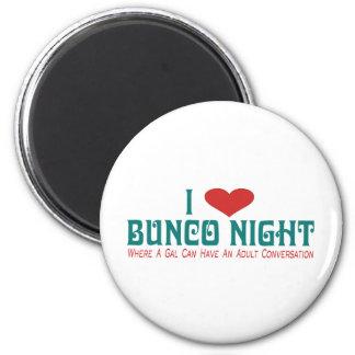 i love bunco night magnets
