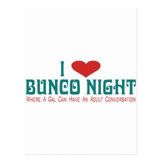 i love bunco night post card