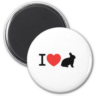 I love bunnies 2 inch round magnet