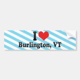 I Love Burlington, VT Bumper Sticker