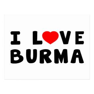 I Love Burma Postcard