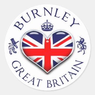 I Love Burnley Classic Round Sticker