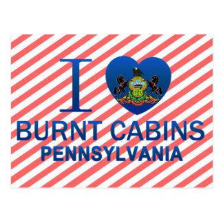I Love Burnt Cabins, PA Postcard