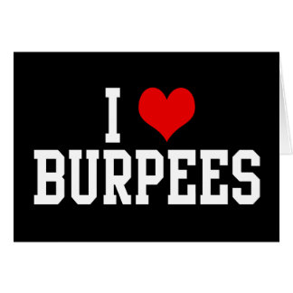I Love Burpees, Fitness Card