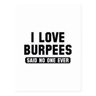 I Love Burpees Postcard