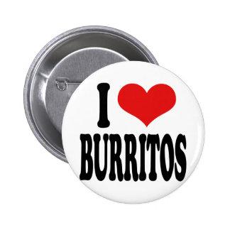 I Love Burritos 2 Inch Round Button