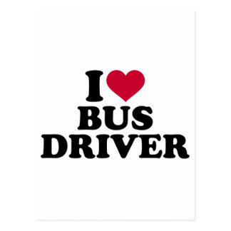 I love bus driver postcard