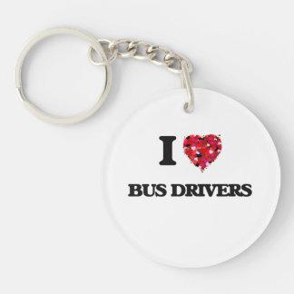 I love Bus Drivers Single-Sided Round Acrylic Keychain
