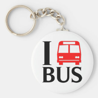 I Love Bus | I Love The Bus | Bus Basic Round Button Keychain