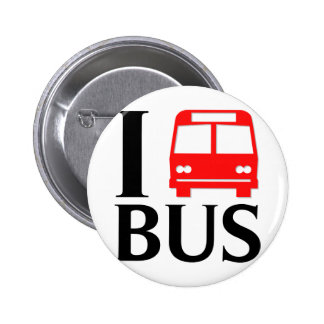 I Love Bus | I Love The Bus | Bus 2 Inch Round Button
