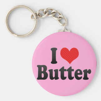 I Love Butter Keychain
