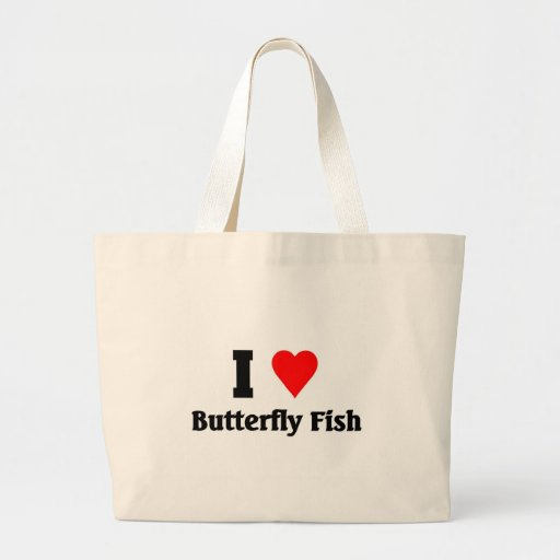 I love Butterfly Fish Canvas Bags