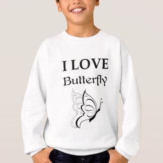 I Love Butterfly Sweatshirt