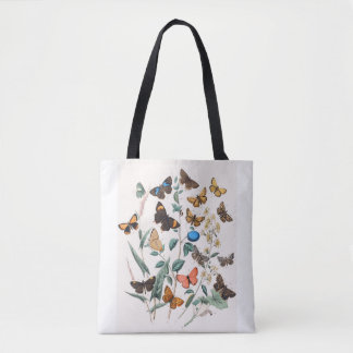 I Love Butterlies and Moths Tote Bag