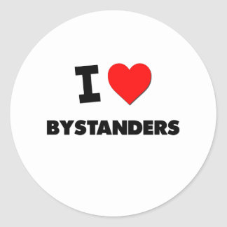 I Love Bystanders Stickers