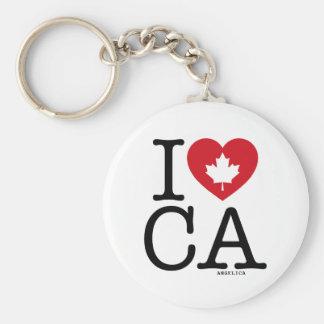 I Love CA | I Love Canada Custom Keychain