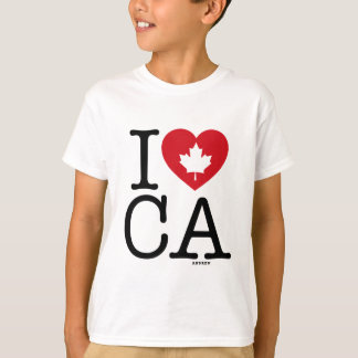 I Love CA   I Love Canada Custom Kid's T-Shirt