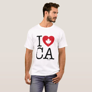 I Love CA   I Love Canada Custom Men's T-Shirt