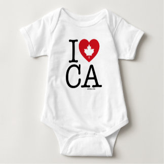 I Love CA | I Love Canada Personalized Baby Bodysuit