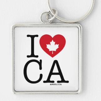 I Love CA | I Love Canada Personalized Keychain