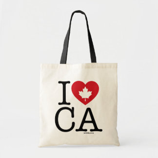 I Love CA | I Love Canada Personalized Tote Bag