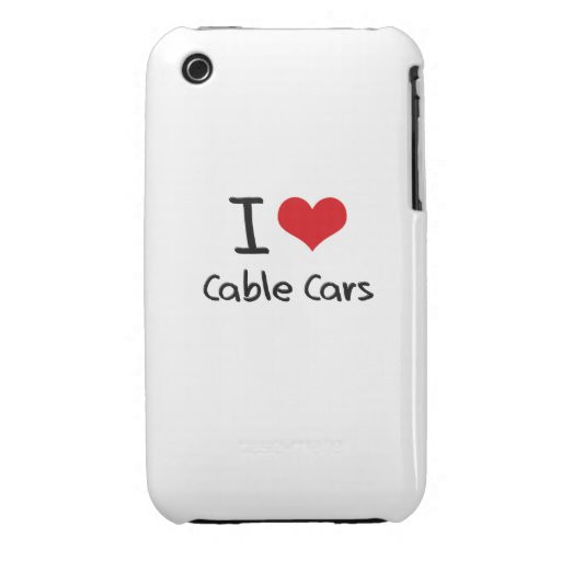 I love Cable Cars iPhone 3 Cases