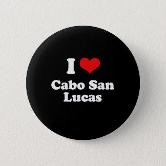 I Love Cabo San Lucas Tshirt White Tshirt 2 Inch Round Button
