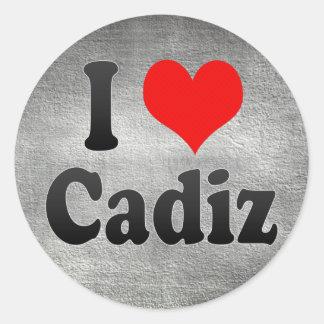 I Love Cadiz, Spain Classic Round Sticker