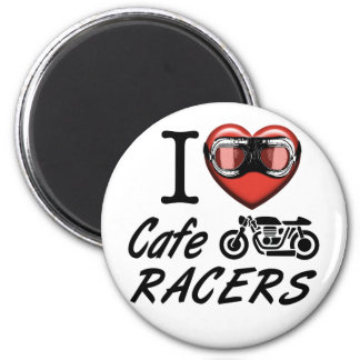 I Love Cafe Racers 2 Inch Round Magnet