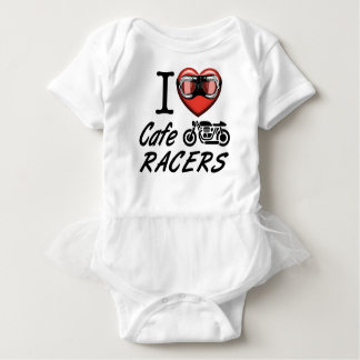 I Love Cafe Racers Baby Bodysuit