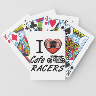 I Love Cafe Racers Bicycle Playing Cards