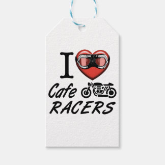 I Love Cafe Racers Gift Tags