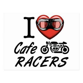 I Love Cafe Racers Postcard