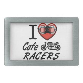 I Love Cafe Racers Rectangular Belt Buckle