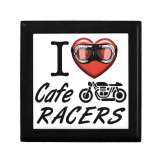 I Love Cafe Racers Trinket Boxes