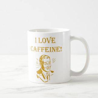 I love caffeine vintage funny coffee cup