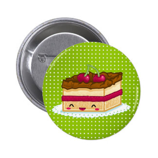 I love cake 2 inch round button