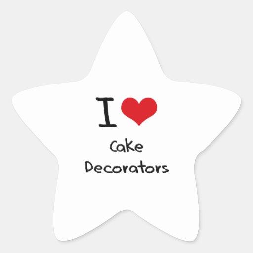 I love Cake Decorators Star Stickers