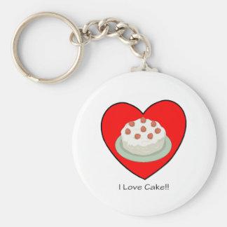 I Love Cake!! Keychain