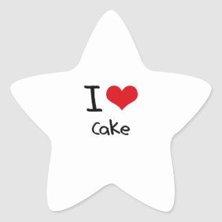 I love Cake Star Sticker
