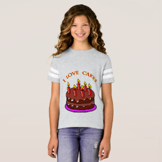 """I Love Cakes"" Girls T-shirt. T-Shirt"
