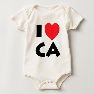 I Love California Baby Bodysuit
