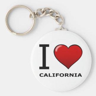 I LOVE CALIFORNIA BASIC ROUND BUTTON KEYCHAIN