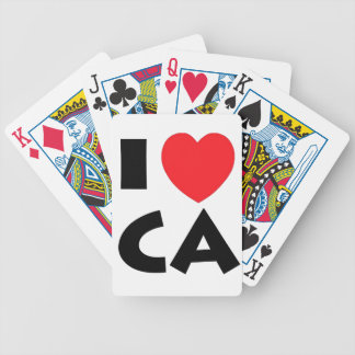 I Love California Bicycle Playing Cards